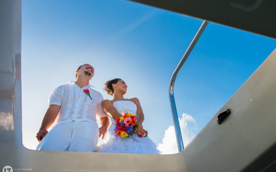 Yacht Wedding at Puerto Aventuras – Mel and Dany