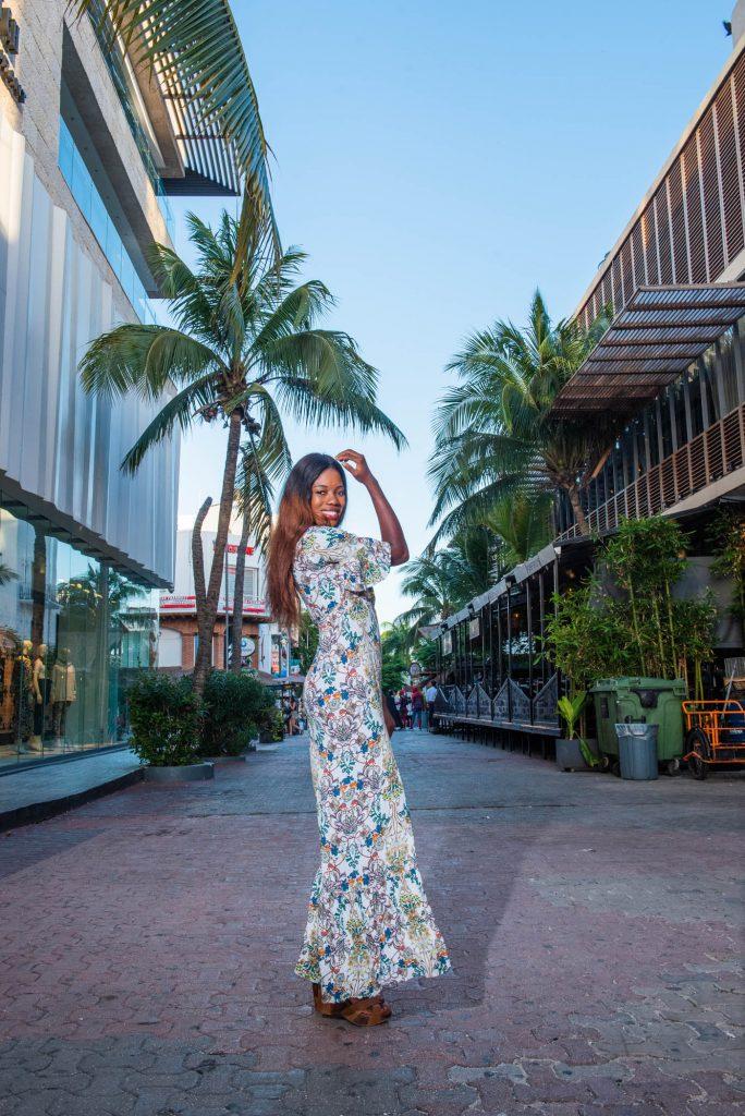 Dory Model Photo Shooting Quinta Avenida Playa del Carmen