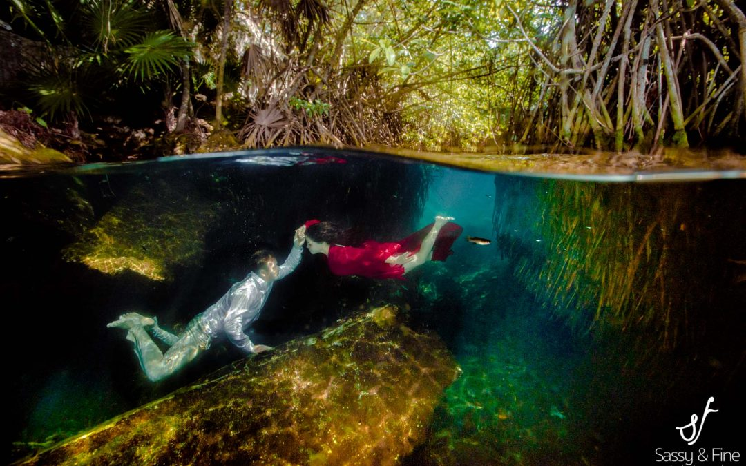 Underwater cenote photography experience with Perla at Playa del Carmen